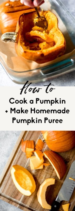 collage of how to cook a pumpkin