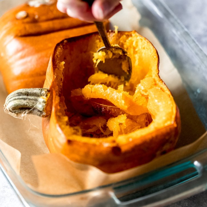 Pumpkins can be intimidating, but we'll break down to to easily cut, dice & roast a pumpkin for cooking. Plus you'll learn how to make your own homemade pumpkin puree for all of your favorite pumpkin recipes!