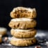 soft pumpkin cookies in a stack