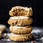 pumpkin cookies stacked