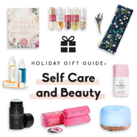 collage of self care gifts