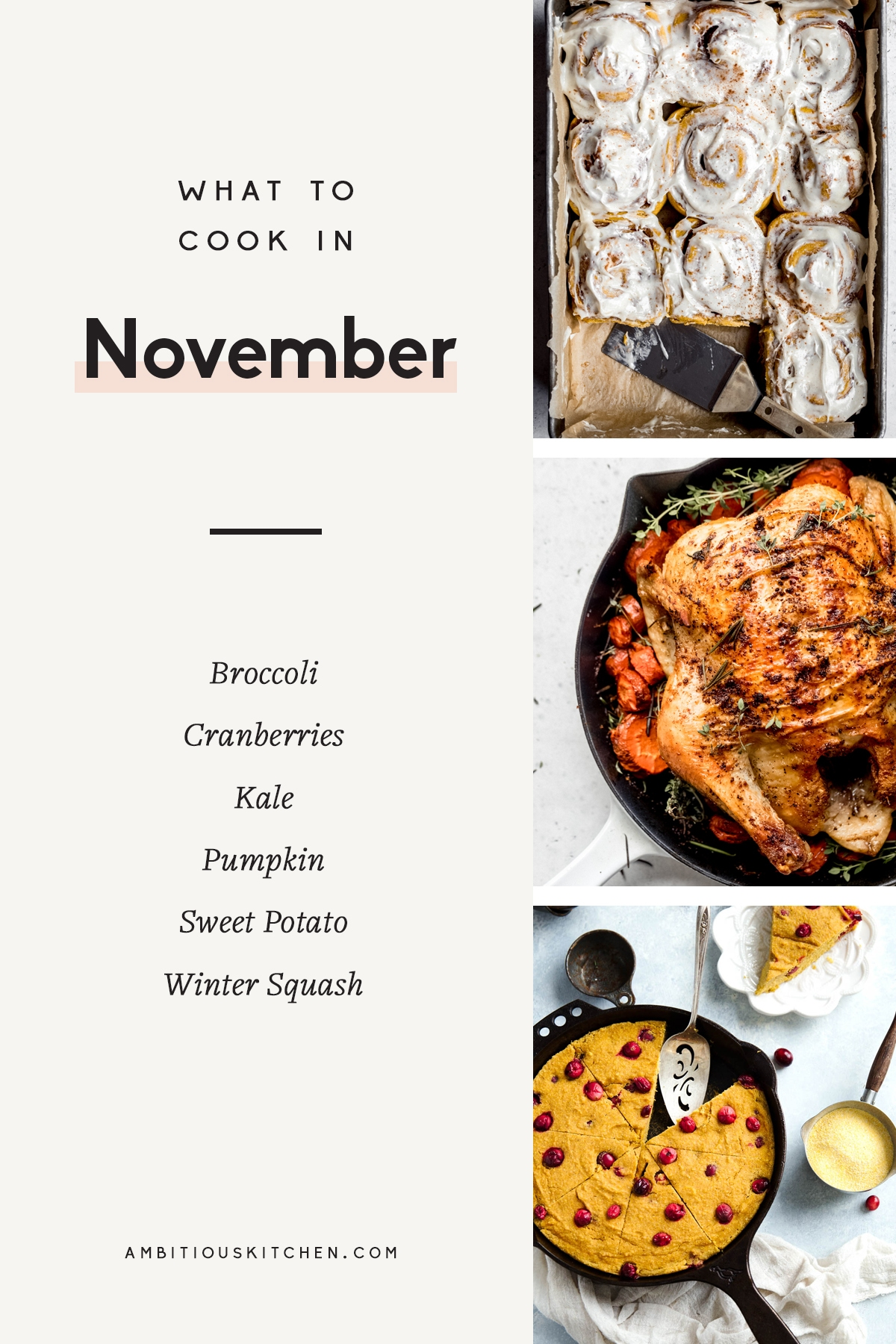 collage of recipes to cook in november