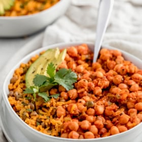 chickpea in sofrito in a bowl