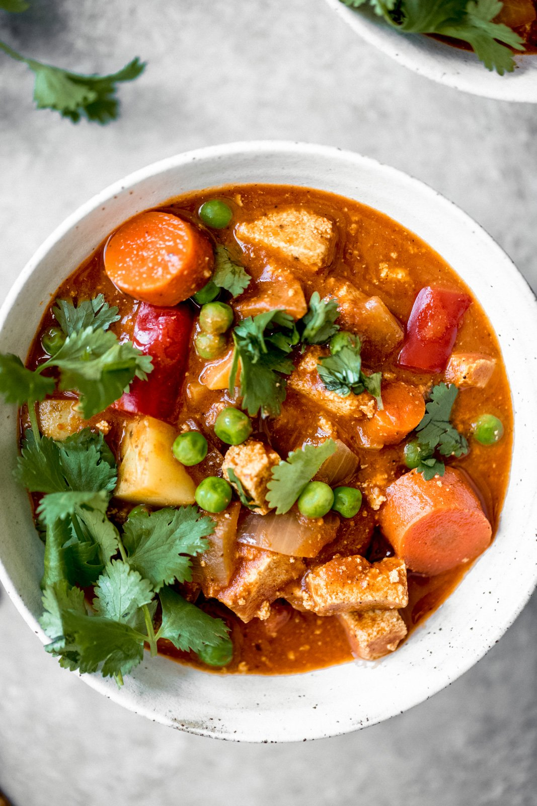 vegan slow cooker tofu tikka masala in a bowl