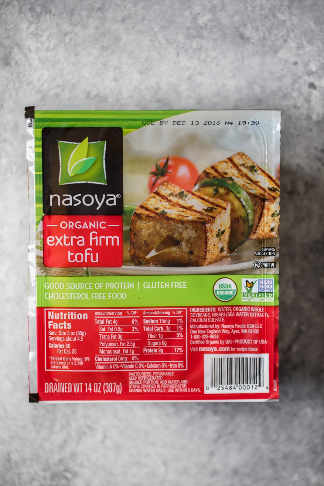 package of nasoya tofu to make slow cooker tofu tikka masala