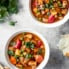 vegan slow cooker tofu tikka masala in two bowls