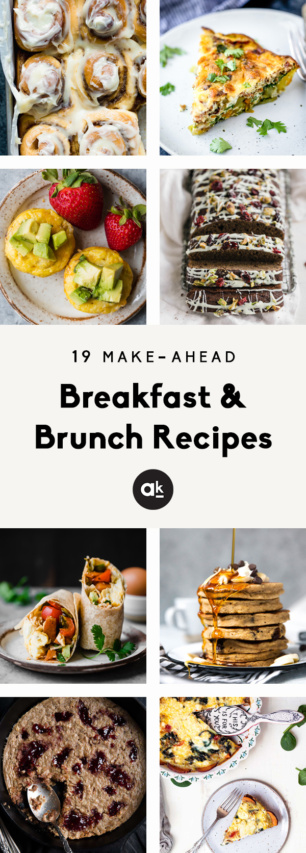 collage of make-ahead breakfast recipes