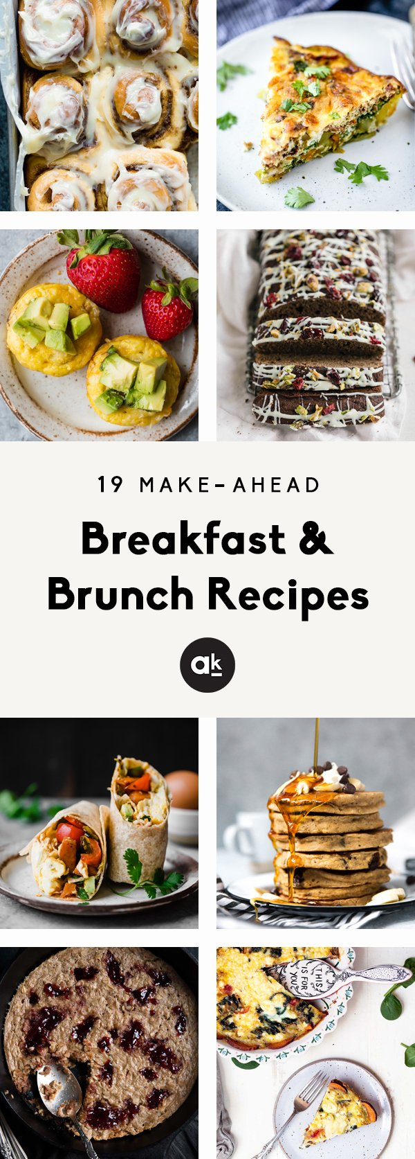 The best make-ahead breakfast recipes that are perfect for the holidays! From delicious muffins and breads to savory egg bakes, these easy holiday breakfast & brunch recipes are great for prepping the night before and enjoying the next morning.
