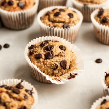 gluten free banana muffins with chocolate chips