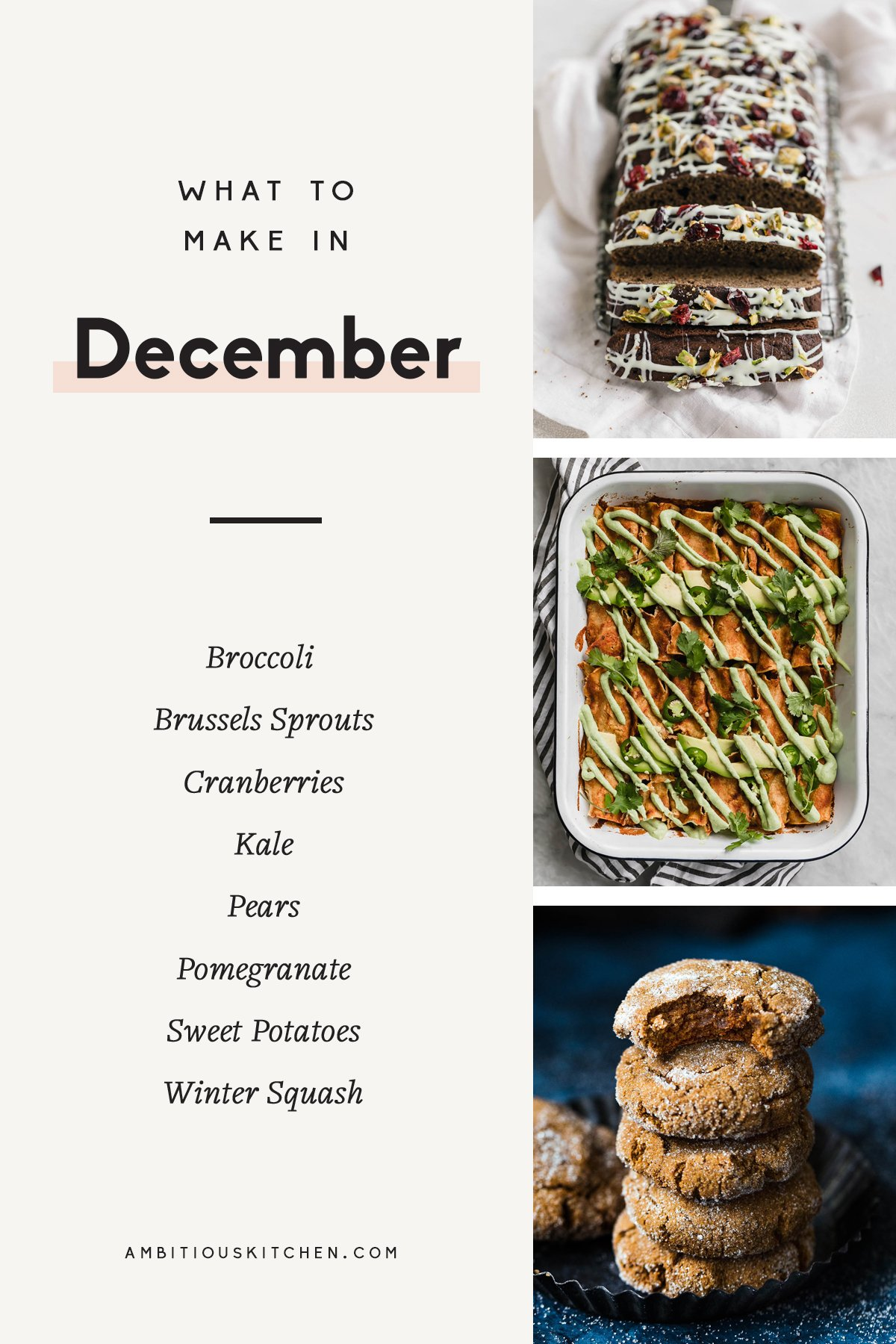 31 amazing, seasonal recipes to make in December! These are the best of the best in breakfasts & brunches, cozy soups, filling salads to bring to work, healthy dinners, and incredible desserts.