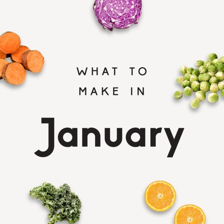 collage of healthy recipes to make in january