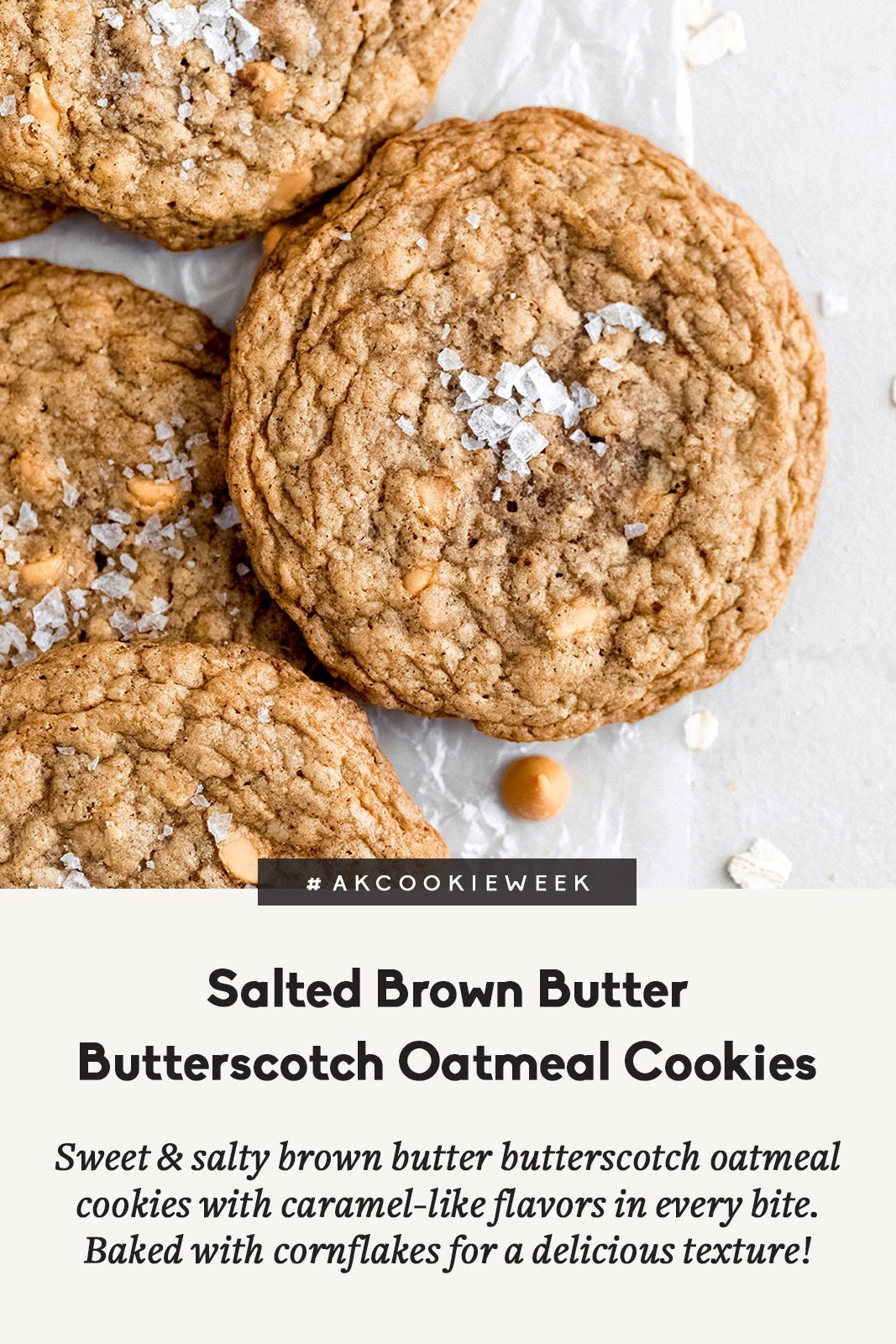 butterscotch oatmeal cookies with a title underneath