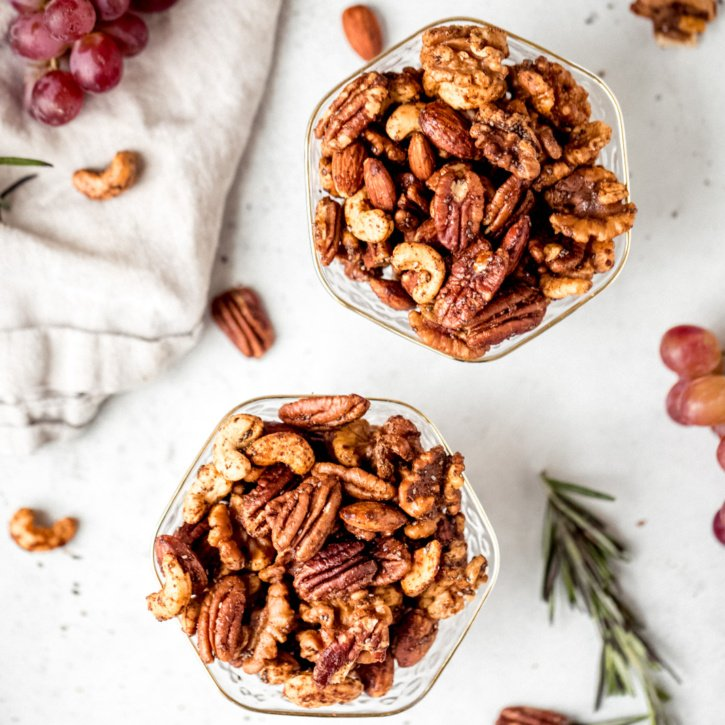 Santa's sweet and spicy party nuts are not your average nuts. They're sweet, spicy, naughty and nice. Make them for someone this holiday season and have a jolly good time.
