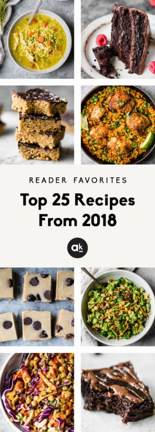 collage of top 25 recipes from 2018