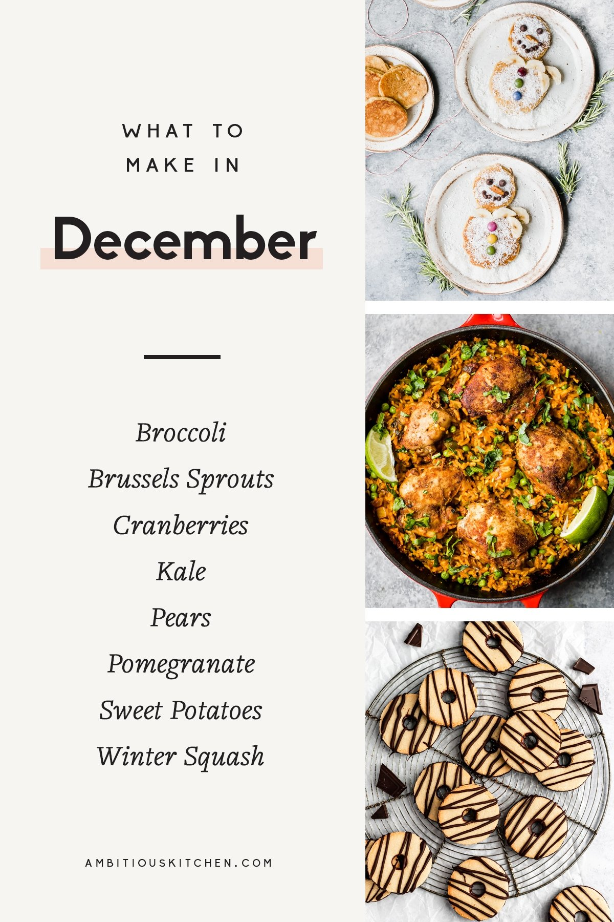 collage of healthy recipes to cook in december