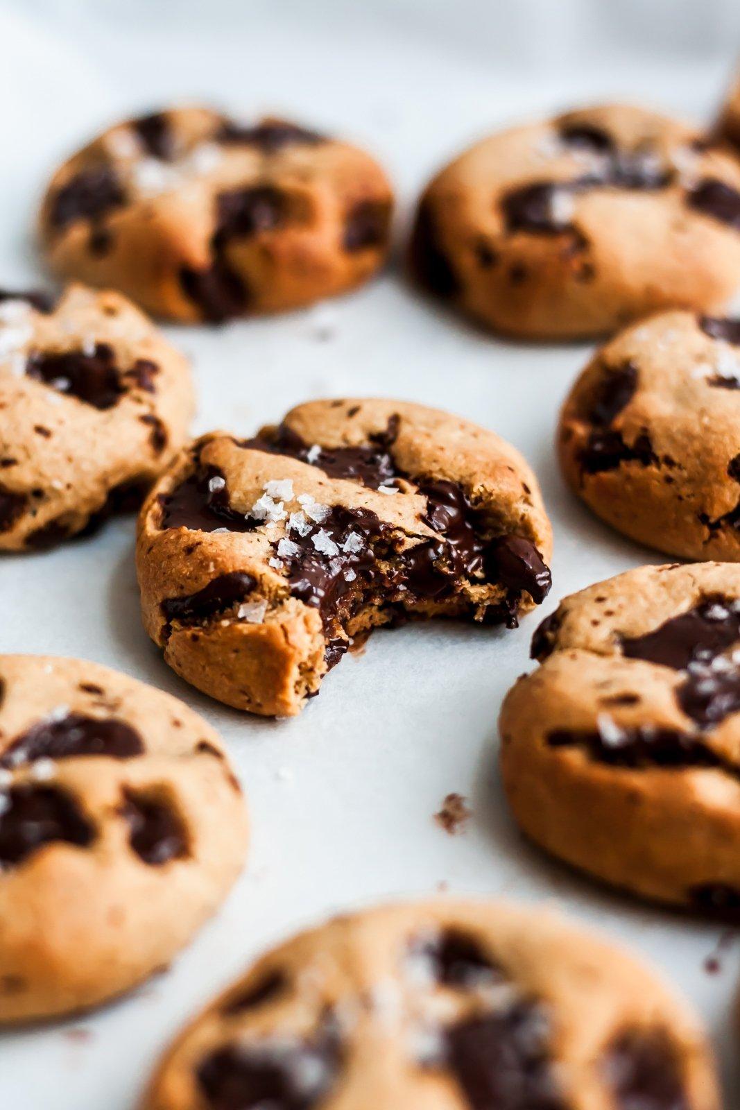 paleo chocolate chunk tahini cookies