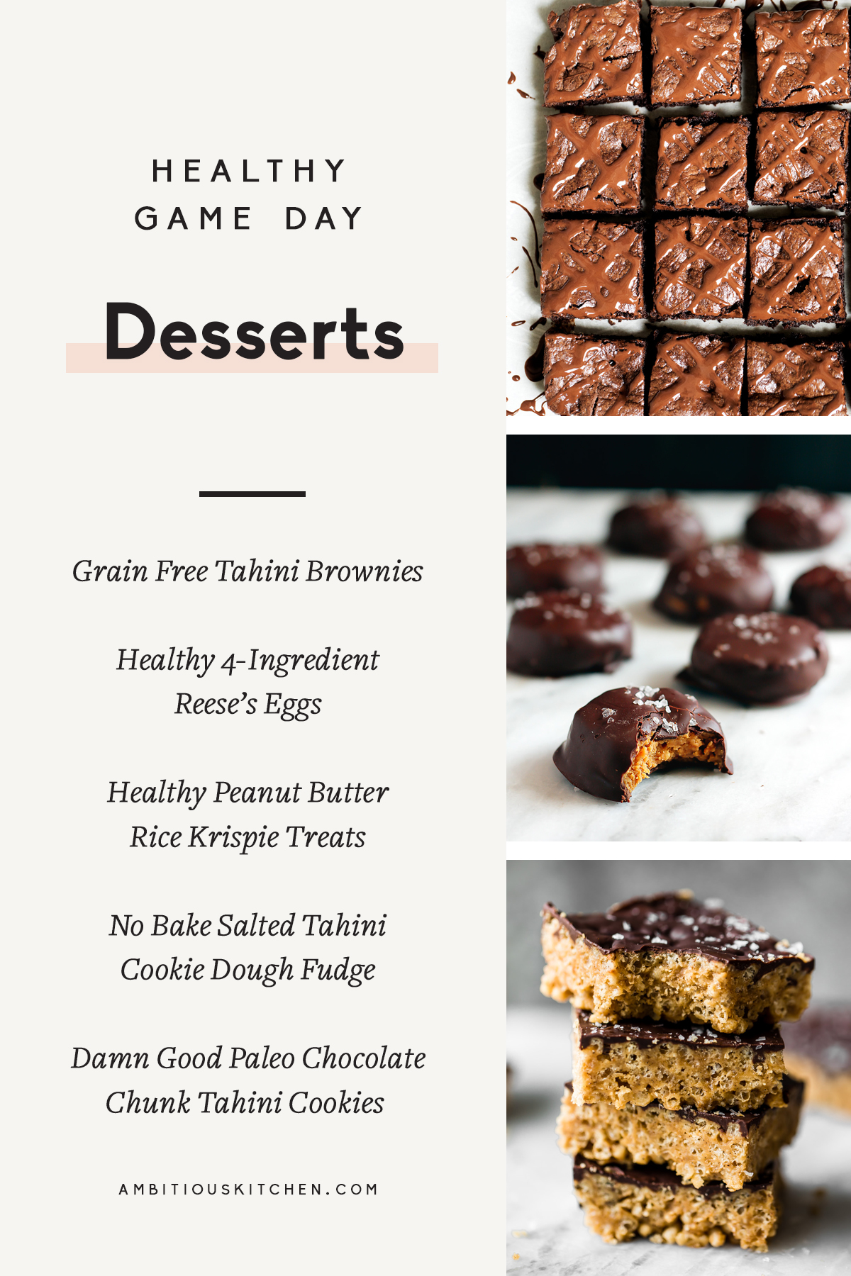The best healthy game day recipes to make for a crowd. Everyone will love these fun appetizers, delicious mains, and incredible desserts. Double or triple any of the recipes for a big group!