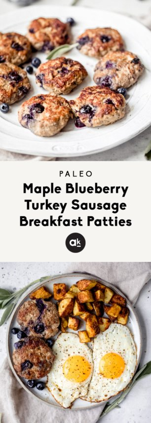 turkey sausage breakfast patties collage