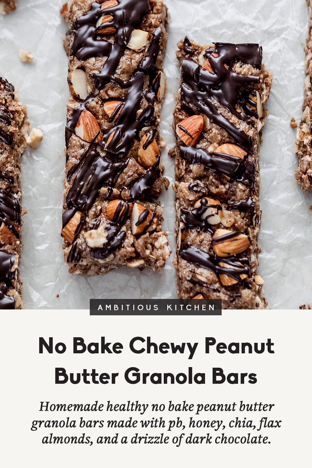 peanut butter granola bars with text overlay