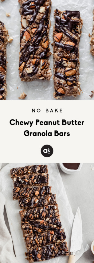 peanut butter granola bars collage