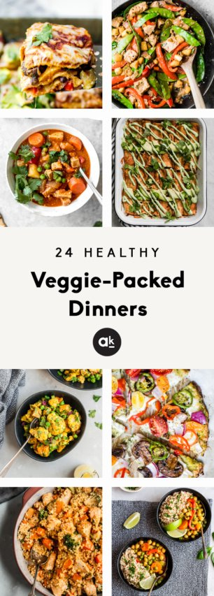24 Healthy Veggie Packed Dinners To Make During The Week Ambitious Kitchen