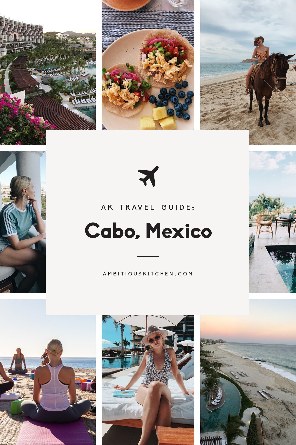 collage of ak travel guide to cabo