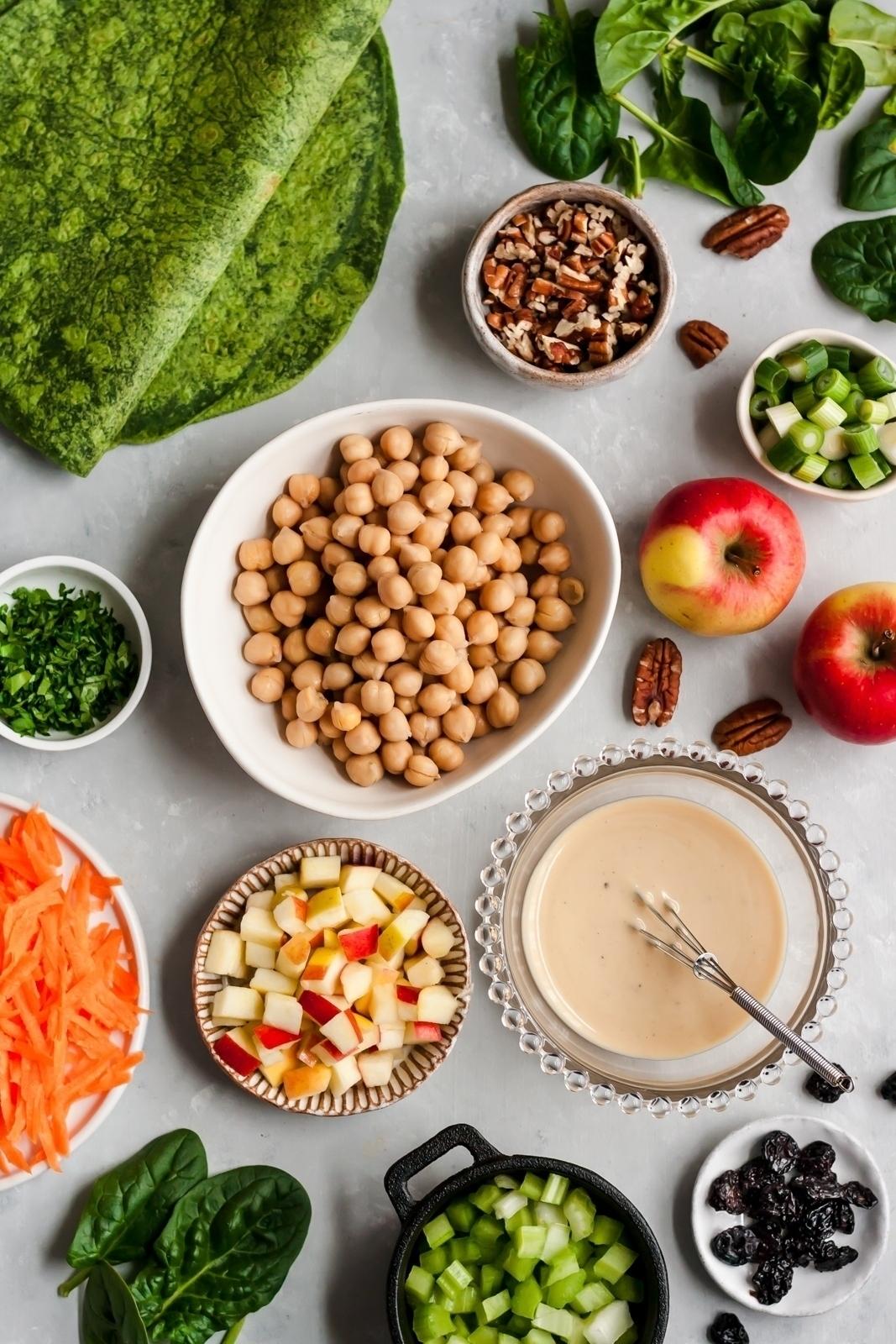 vegan apple chickpea salad ingredients