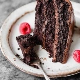 paleo chocolate cake on a plate
