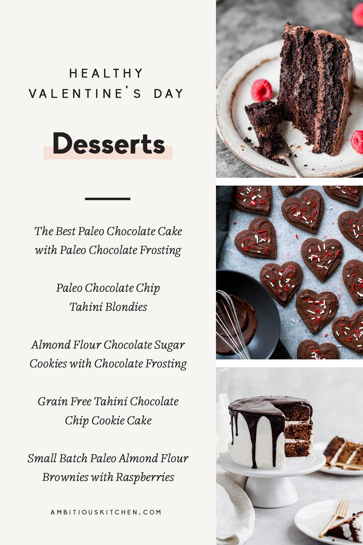 The best healthy Valentine's Day Recipes for the perfect date night in or girl's night! From breakfast in bed to delicious dinners and incredible desserts.