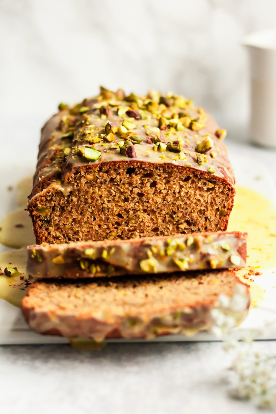 Pistachio Poppyseed Orange Yogurt Bread