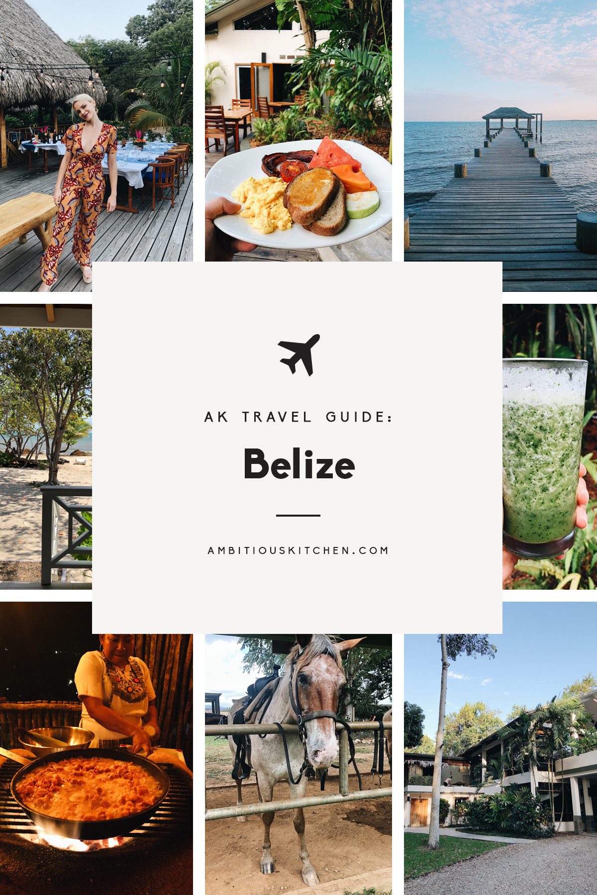 collage of AK travel guide: Belize