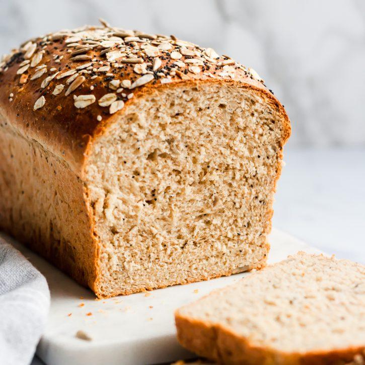 The Best Healthy Soft Seedy Sandwich Bread