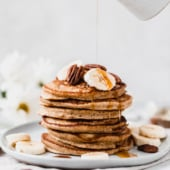 The best healthy pancakes recipes that are kid friendly and adult approved! You'll find a delicious mix of whole wheat, vegan, and gluten free pancakes, and everything from zucchini to banana pancakes. The ultimate breakfast & brunch staple!