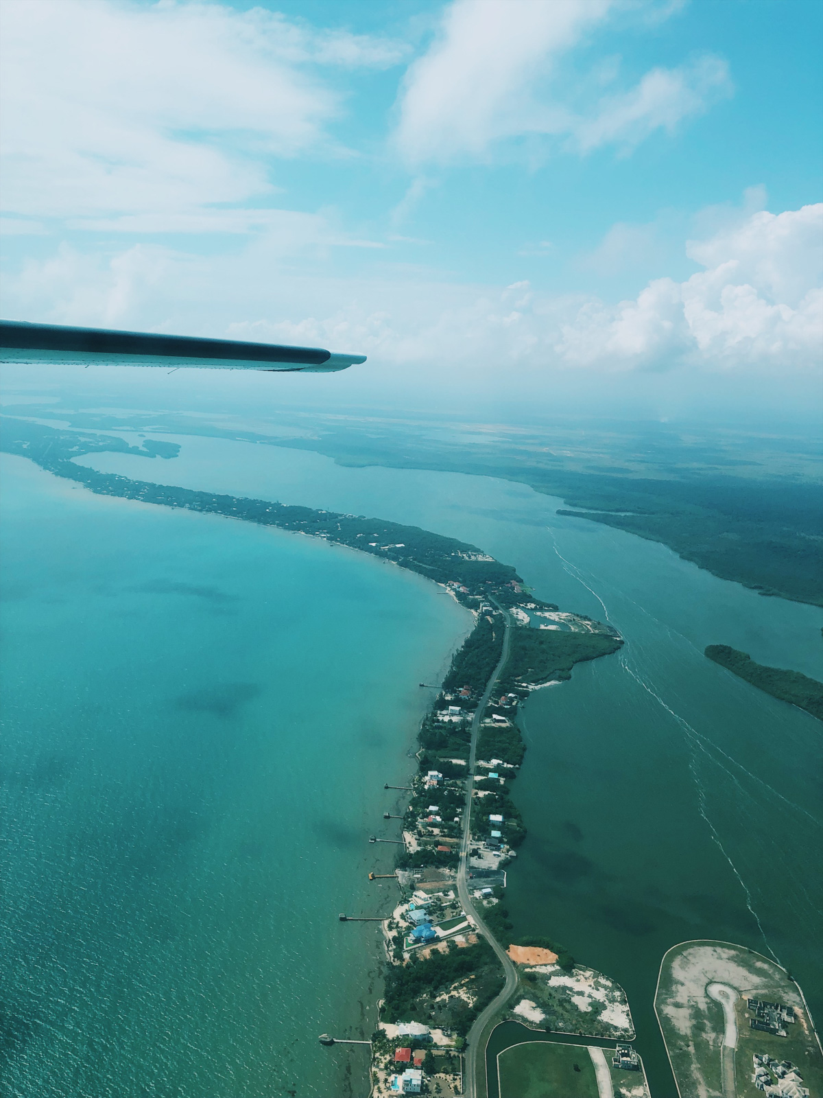 airplane view of Belize