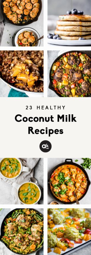 collage of coconut milk recipes