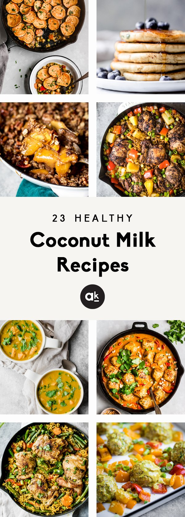 Delicious, healthy coconut milk recipes that are perfect for using up a can of coconut milk! You'll find flavorful dinner recipes and plenty of incredible desserts that are naturally dairy free thanks to coconut milk.