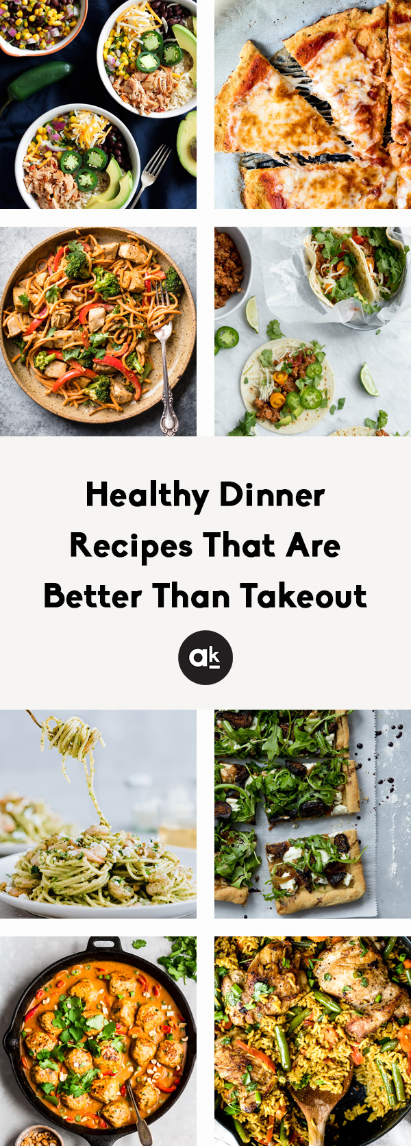 Homemade healthy dinner recipes that are seriously better than takeout! These healthy twists on your favorite takeout dinners are easy to make, packed with flavor, and perfect for sharing or meal prepping for your week.