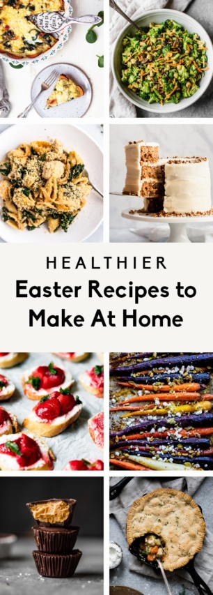 collage of healthier easter recipes