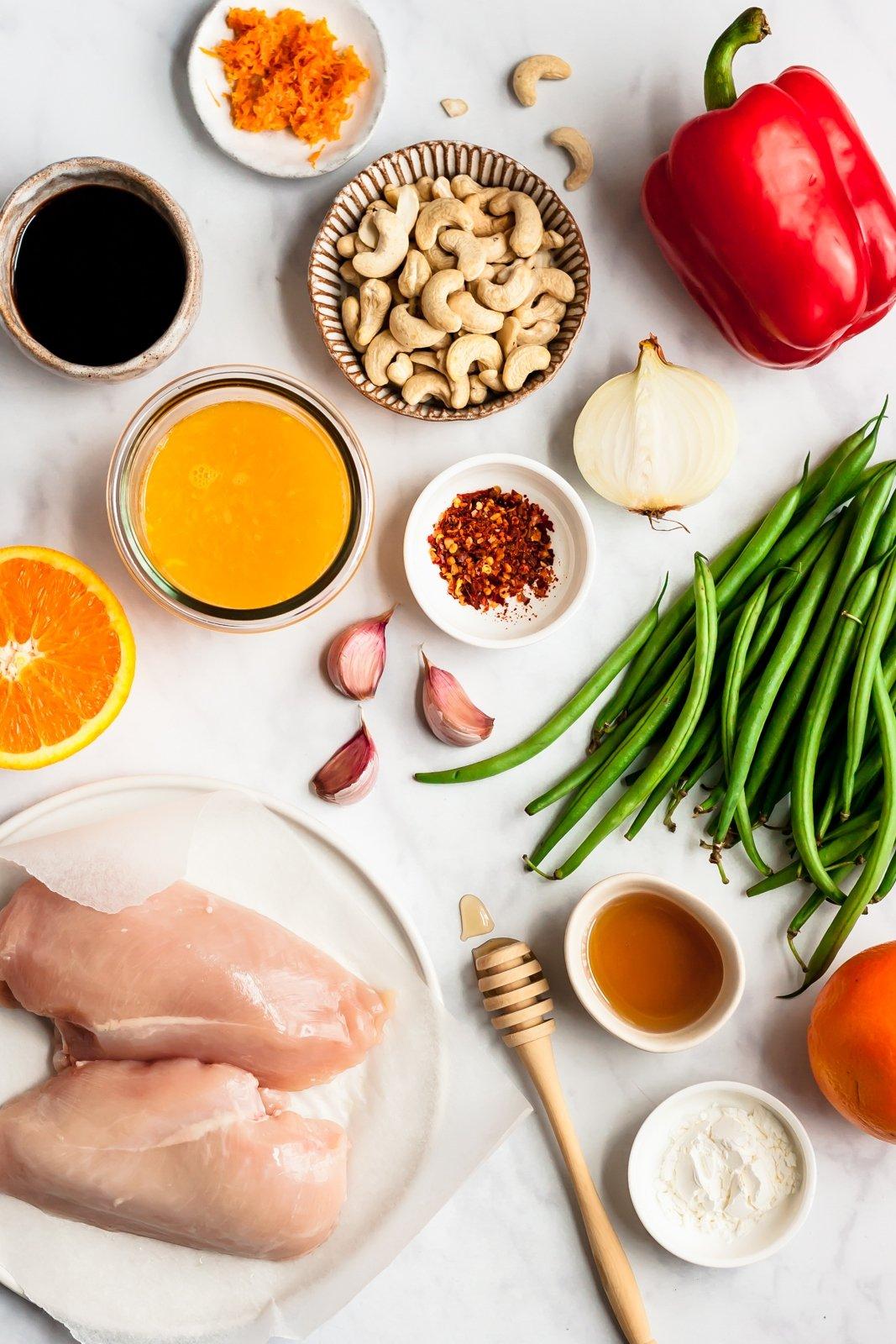 orange chicken stir fry ingredients