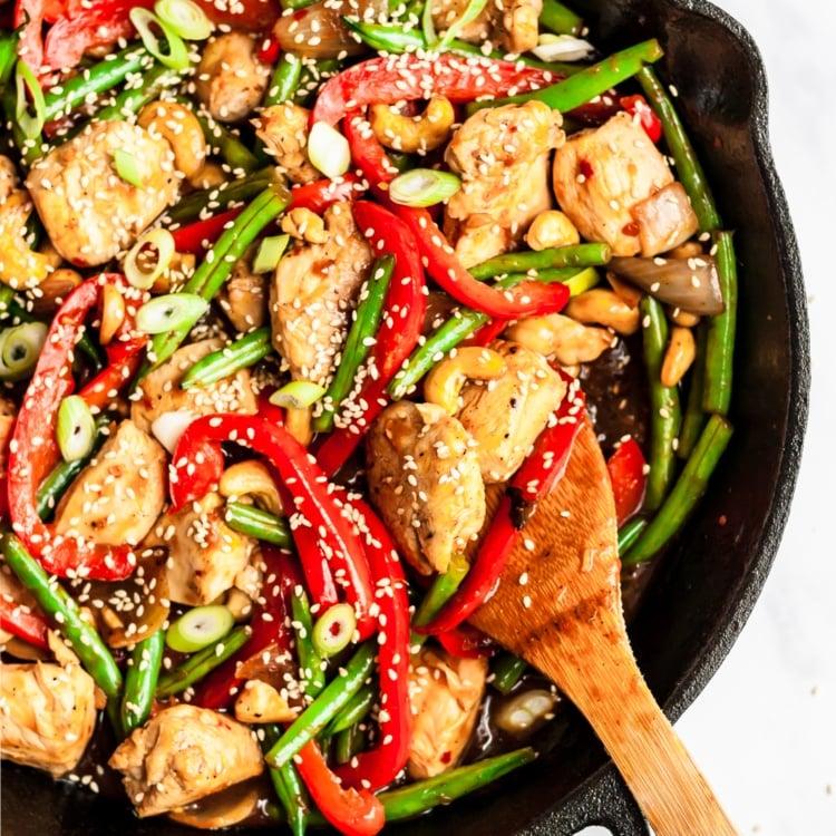 Healthy Orange Chicken Stir Fry with Coconut Cauliflower Rice ~ Ambitious Kitchen