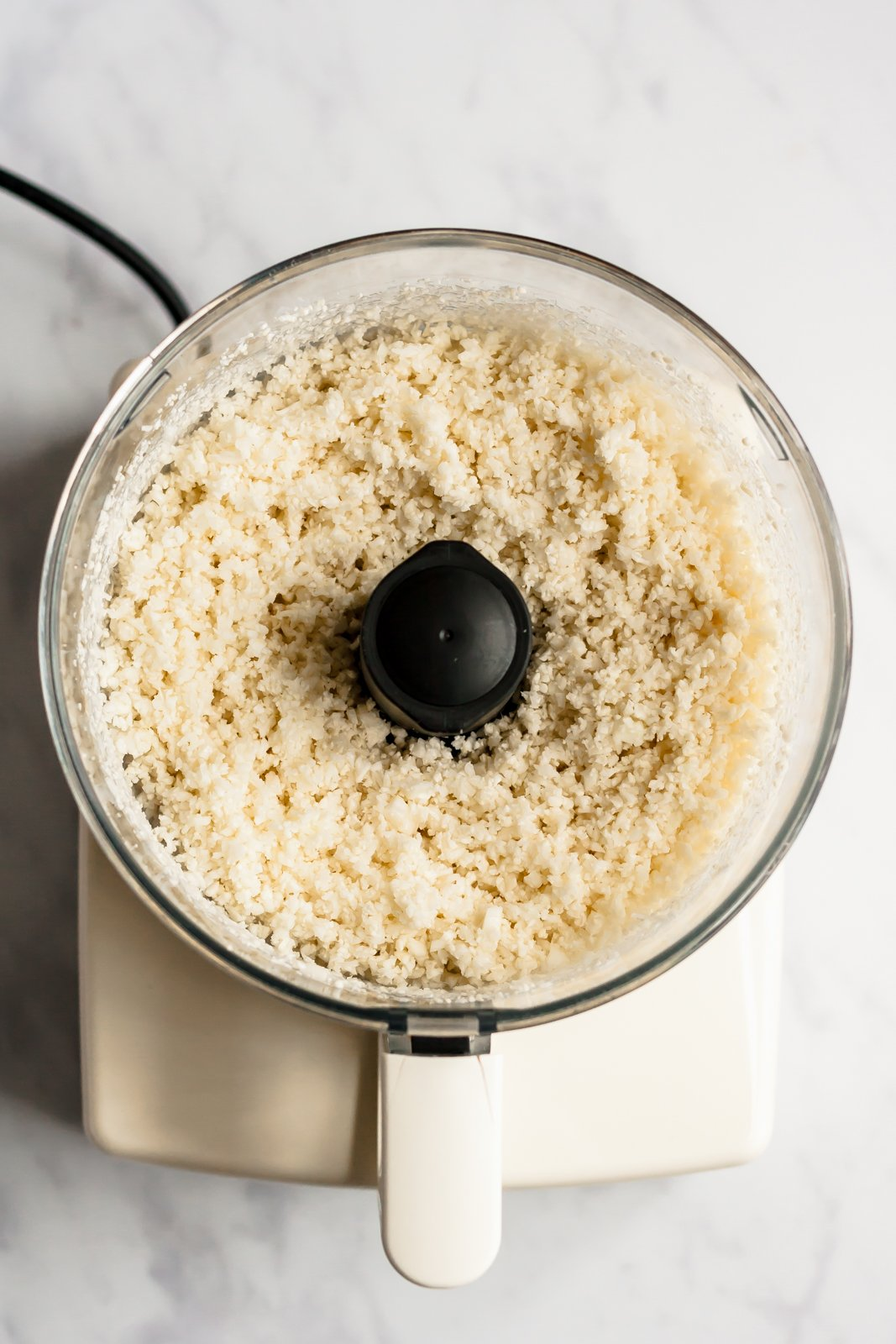 cauliflower rice in a food processor
