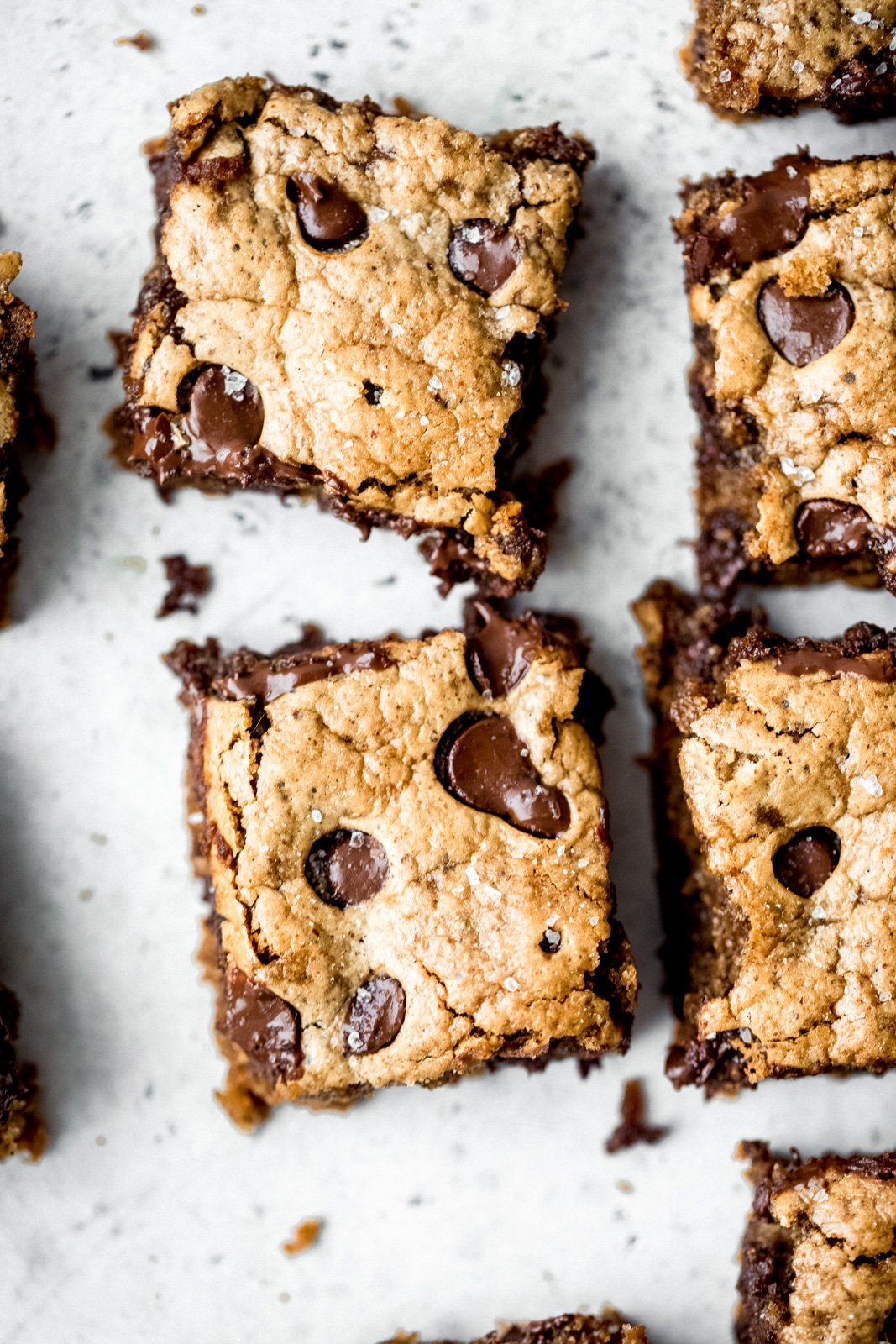 almond butter blondie close up photo