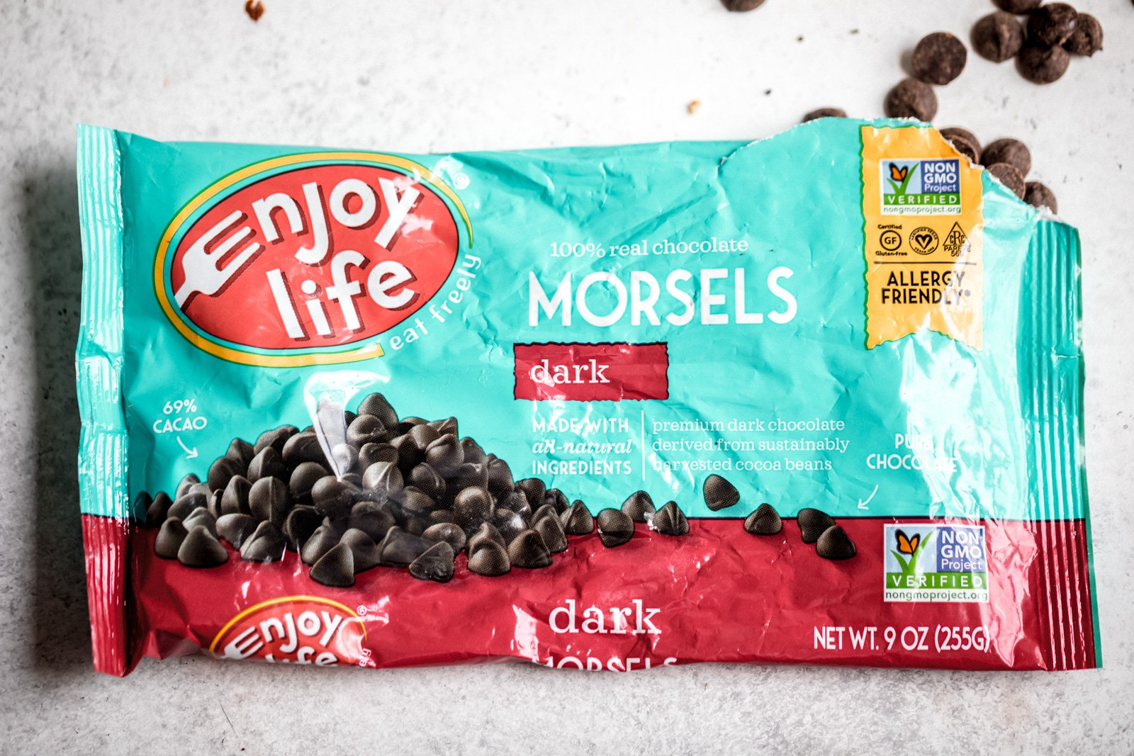 photo of enjoy life dark chocolate morsels