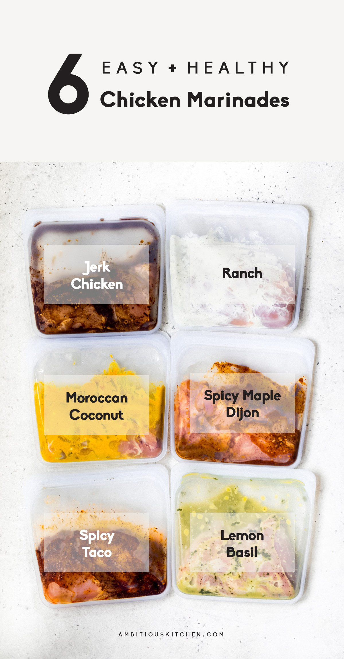 6 of the best easy and healthy chicken marinades
