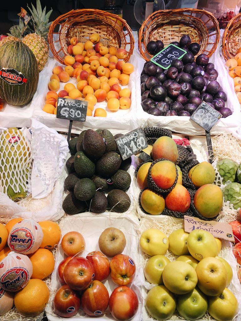 fruits at a market in spain