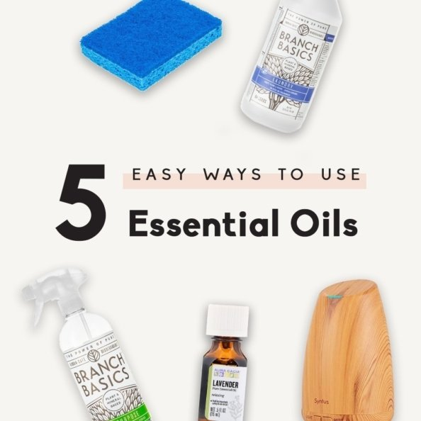collage of easy ways to use essential oils