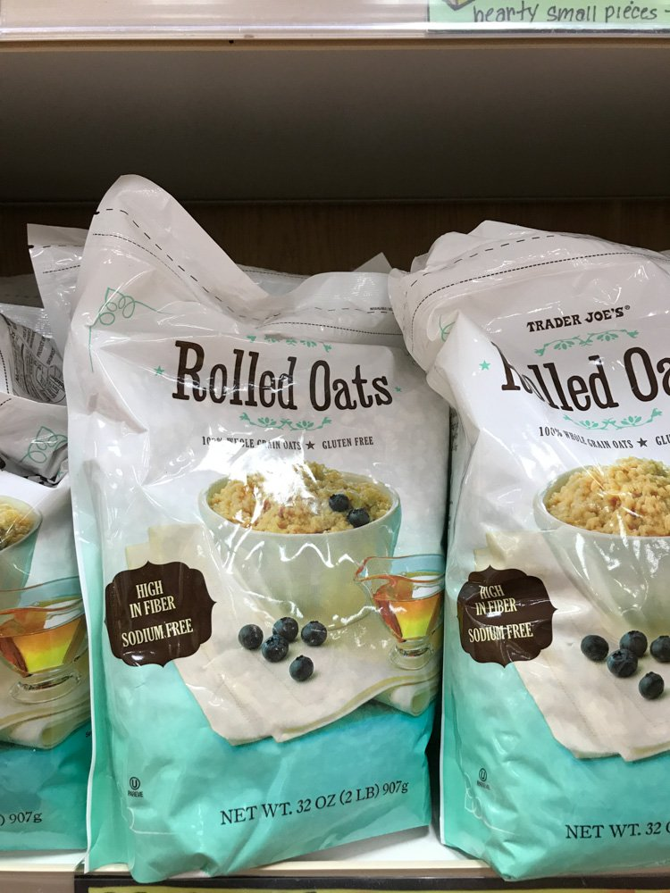 bags of rolled oats