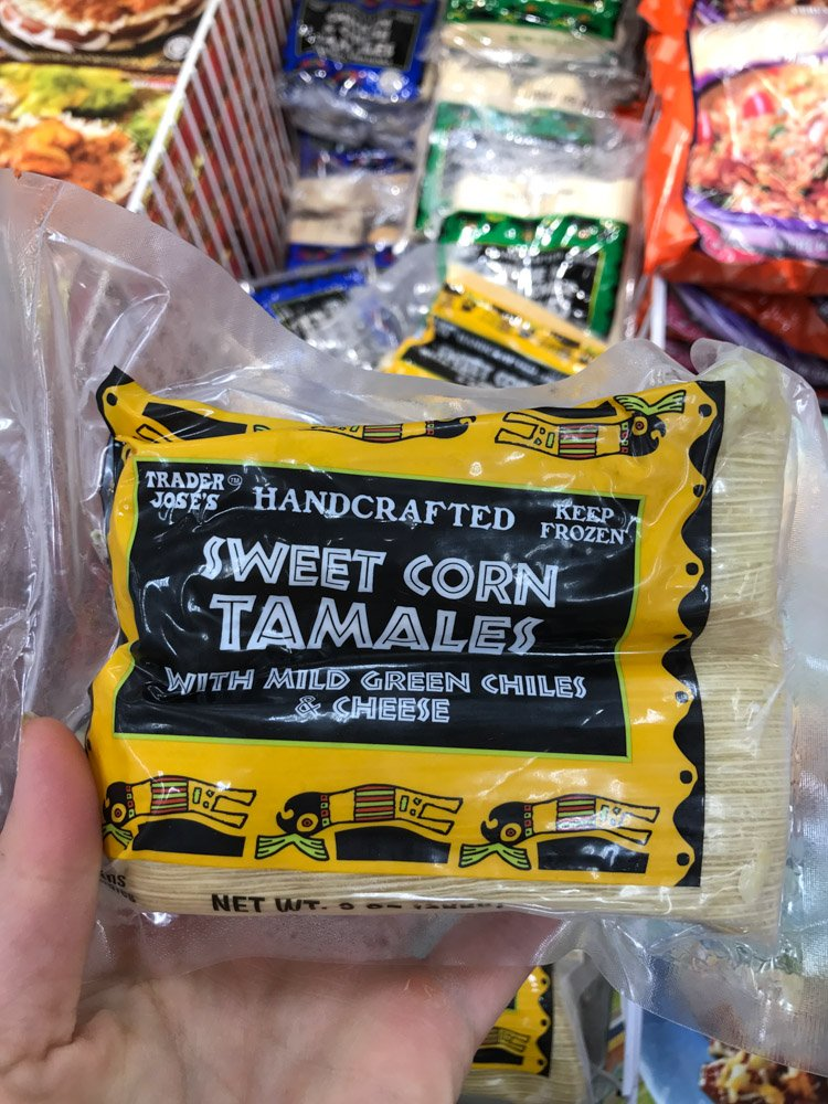 bag of frozen sweet corn tamales