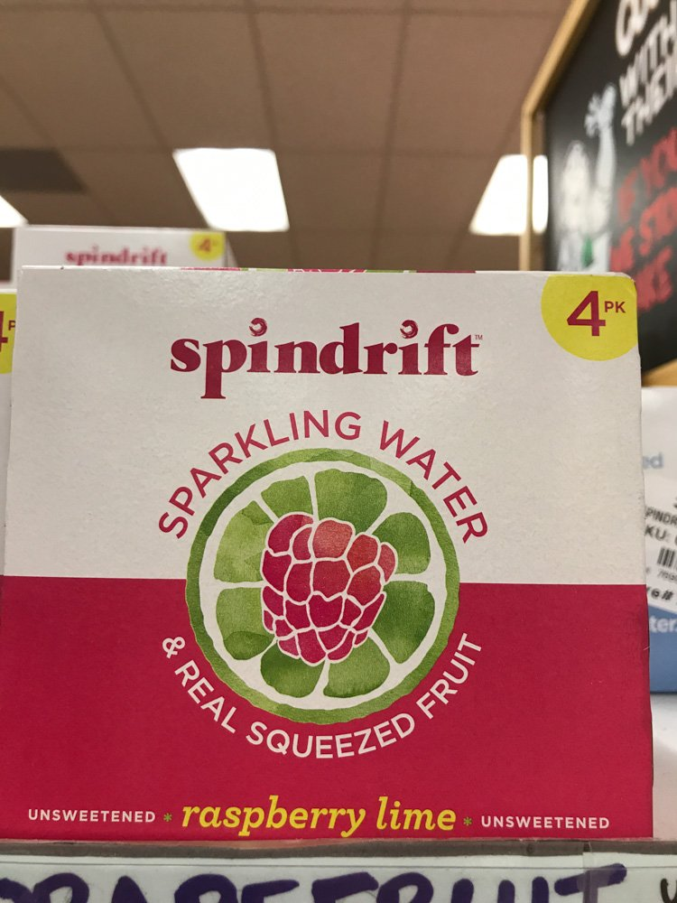 case of spindrift sparkling water