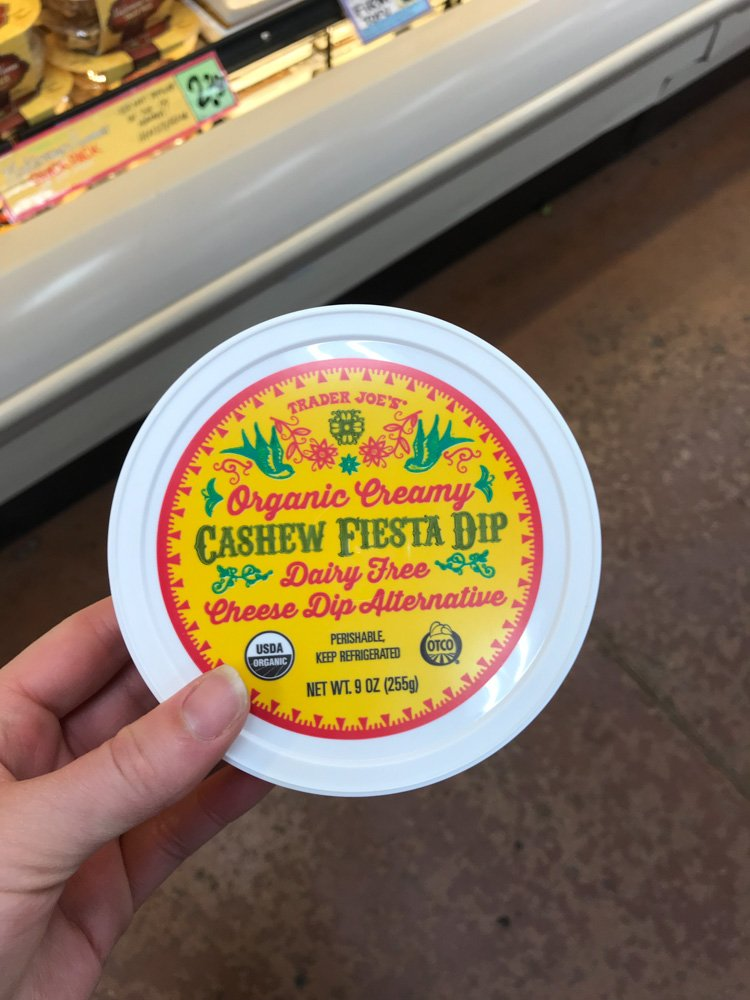 container of cashew fiesta dip